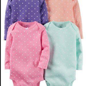 Carters 4-Pack Original Bodysuits 3 m polka dots